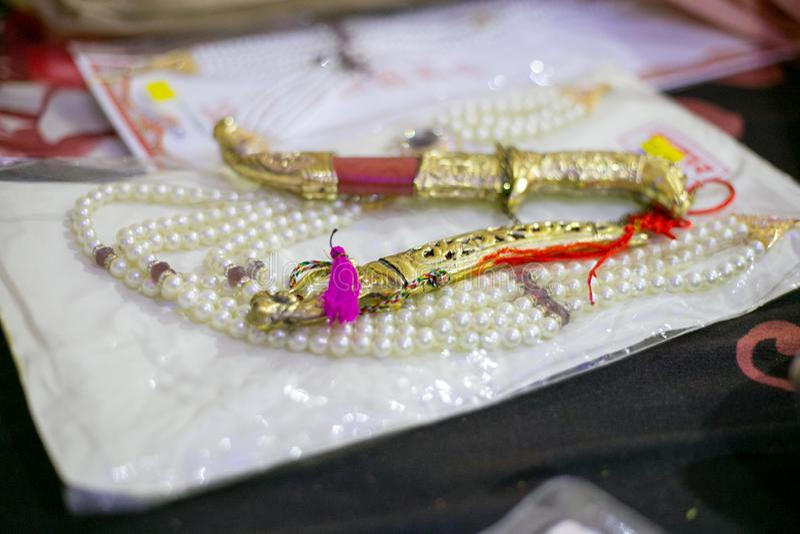 Norr indiska gifta sig smycken och prydnader royaltyfri fotografi