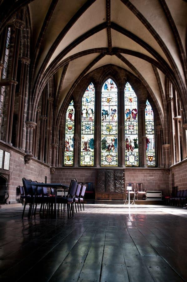 Norr körgång, Chester Cathedral, Chester, UK royaltyfri fotografi