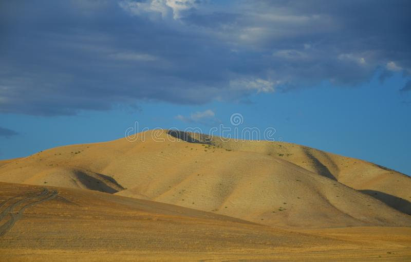 Norr Kalifornien berg i sen sommar med blå himmel royaltyfri bild