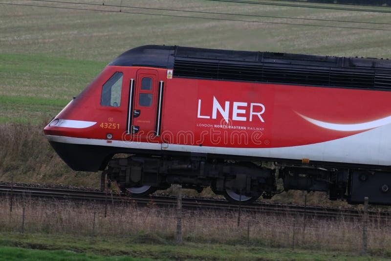 Norr London - östlig järnväg livré, drev för HST 125 arkivbild