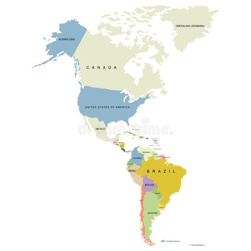 Norr och söder av det Amerika territoriet, territorium av Kanada stock illustrationer