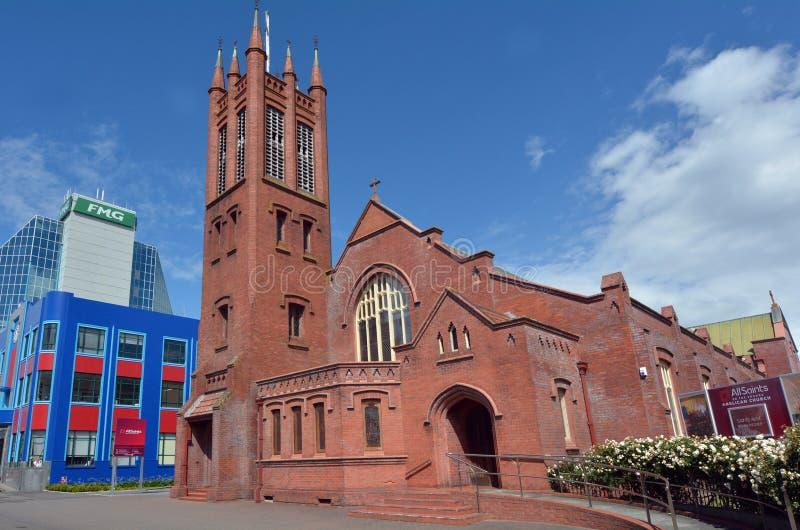 Norr Palmerston - Nya Zeeland - all anglikansk kyrka för helgon royaltyfria foton