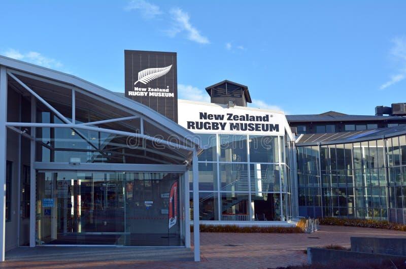 Norr Palmerston - nyazeeländskt rugbymuseum royaltyfri bild