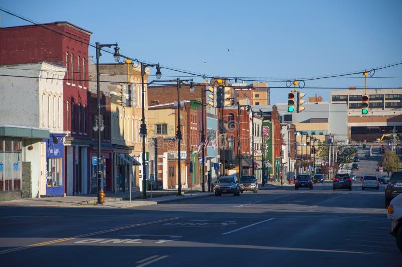 Norr Salina Street, Syracuse, NY arkivfoto