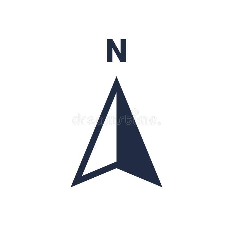 Norr symbol för punkt för vektor för riktning för pilsymbol N stock illustrationer