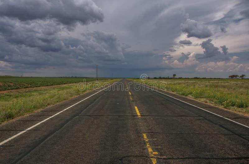 Norr Texas Prairie Storm arkivfoton