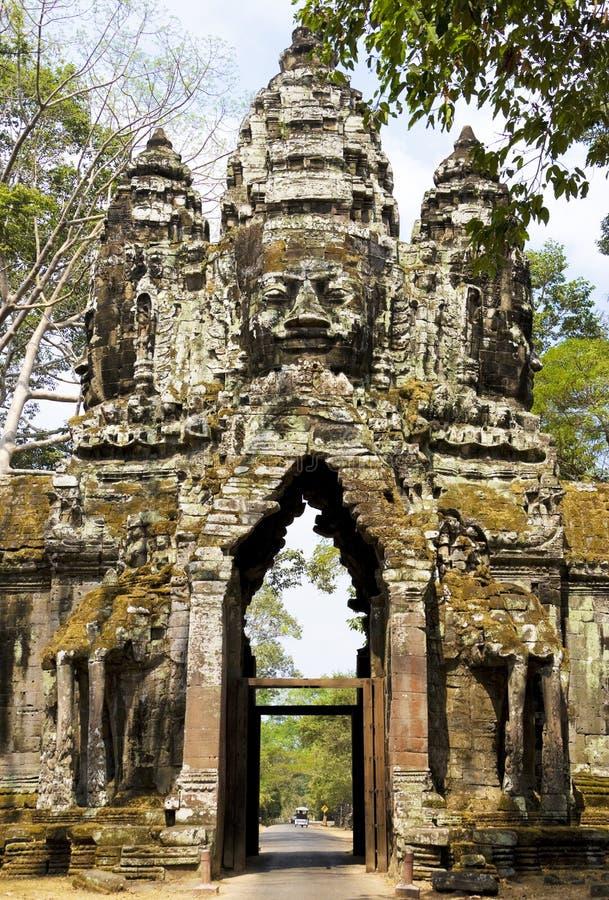 norr thom för angkorcambodia port royaltyfri fotografi