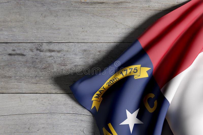 norr tillstånd för carolina flagga royaltyfri illustrationer