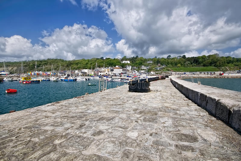 Norr vägg - Lyme Regis royaltyfri fotografi