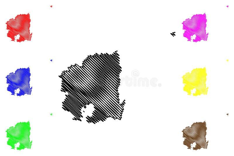 Norr vektor för Gyeongsang landskapöversikt vektor illustrationer