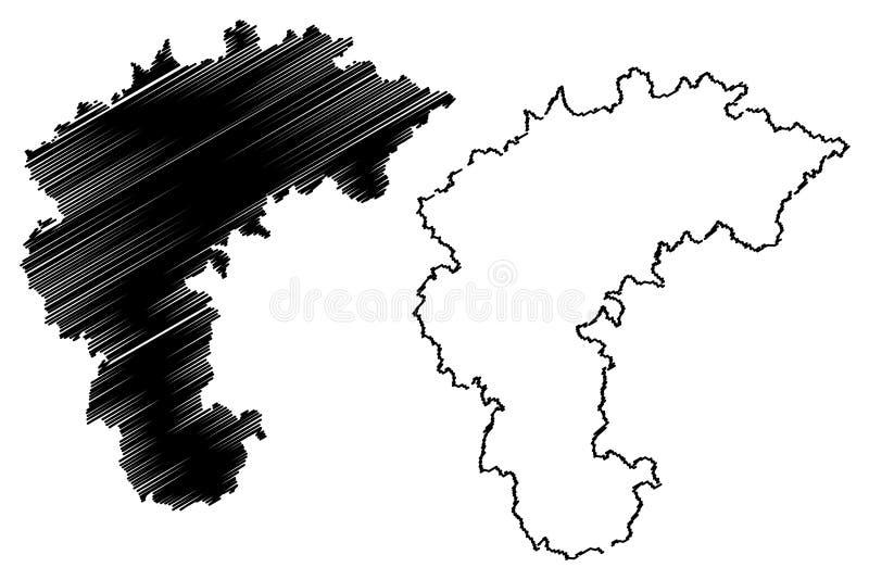Norr vektor f?r Chungcheong landskap?versikt royaltyfri illustrationer