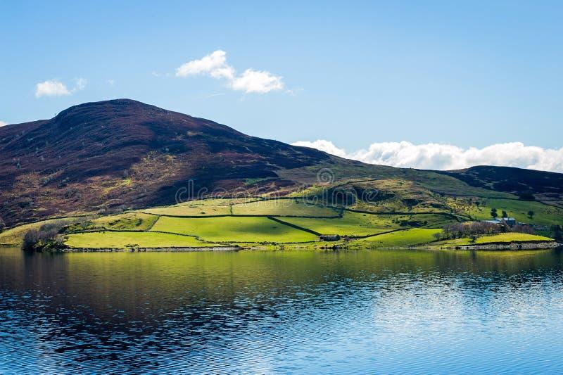 Norr Wales bygdlandskap arkivbild