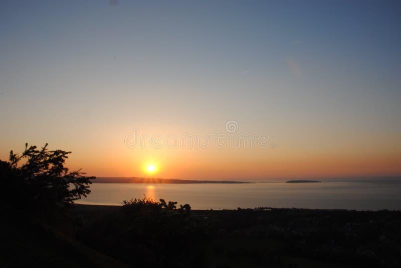Norr Wales solnedgång fotografering för bildbyråer