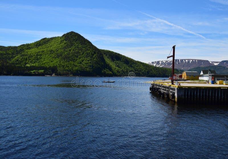 Norris Point-mening naar de Plateaus royalty-vrije stock foto