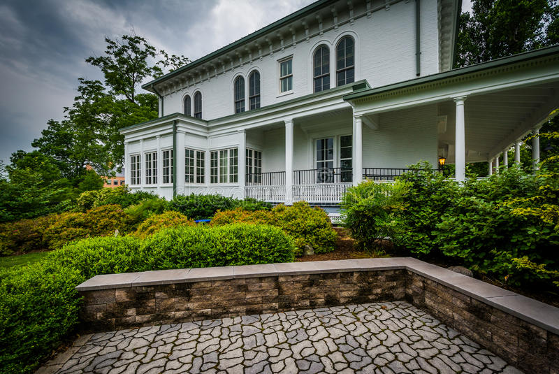 Norris Wachob Alumni House, no terreno de Gettysburg Coll fotografia de stock