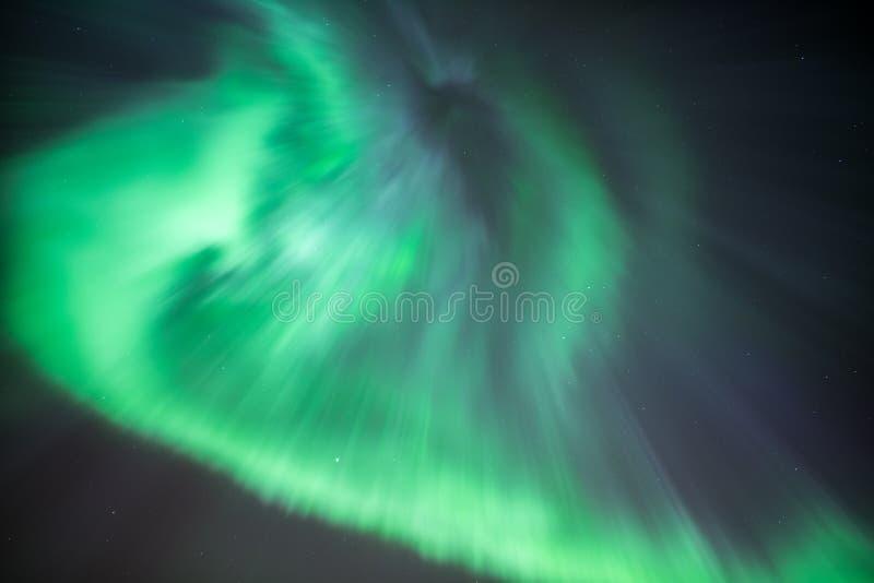 Norrsken eller nordliga ljus arkivfoto