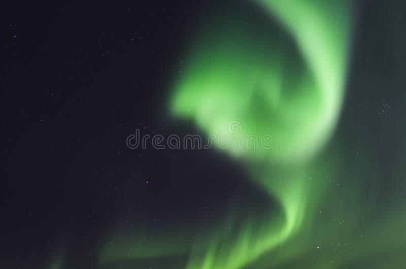 Norrsken i Island royaltyfria bilder