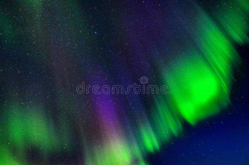 Norrsken Lofoten royaltyfri foto