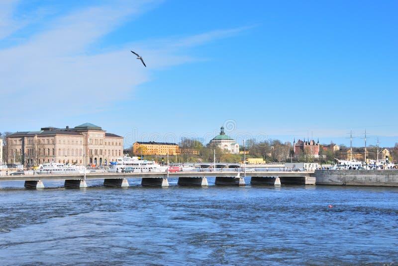 norrstromstockholm strait arkivfoto