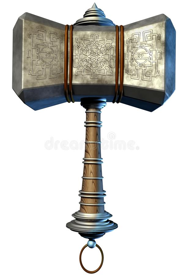 Norse Mythologiehamer stock illustratie