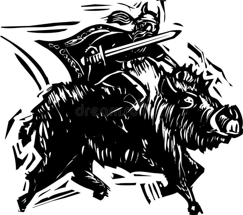 Norsegud Frey vektor illustrationer