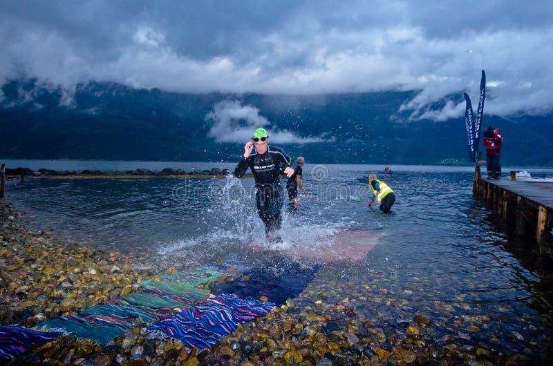 Norseman Xtreme Triathlon stockbild