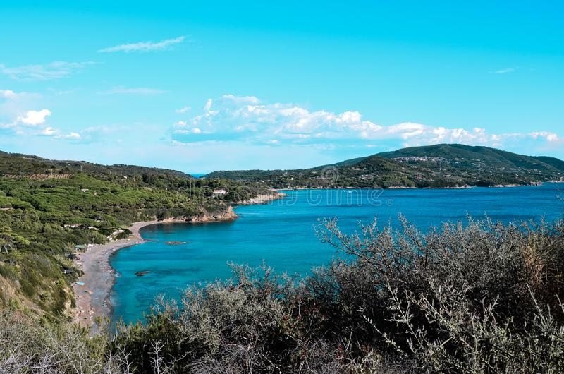 Norsistrand in Elba Island, Toscanië, Italië stock foto's