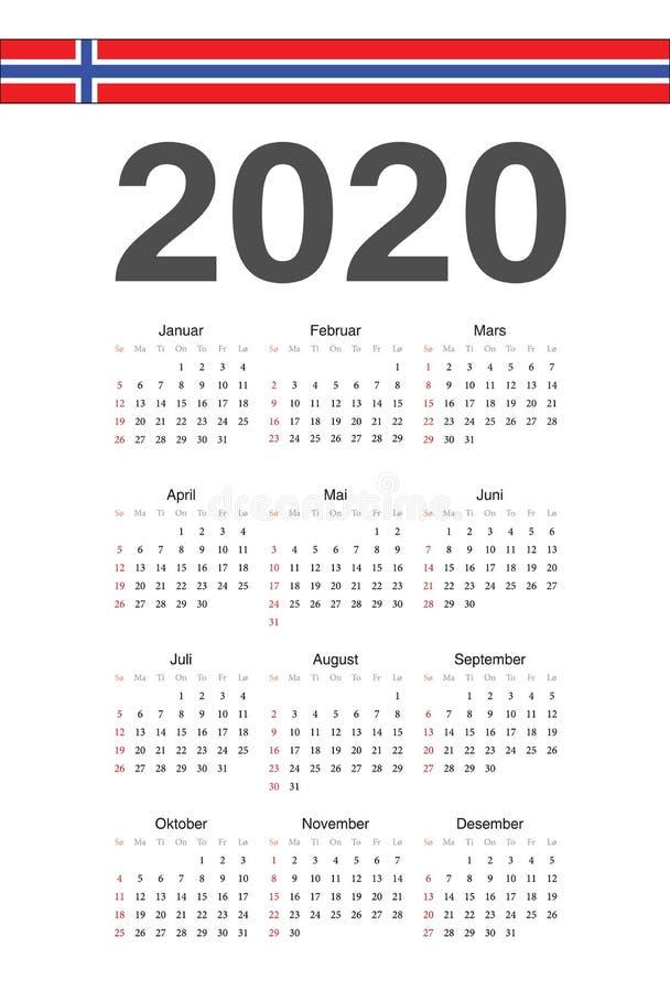 norsk kalender f r 2018 scheduler dagordning eller. Black Bedroom Furniture Sets. Home Design Ideas