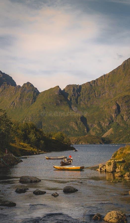 Norsk fjordliggande royaltyfria bilder