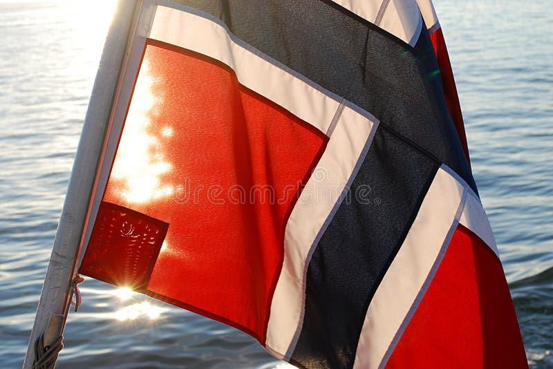 Norsk flagga royaltyfria foton