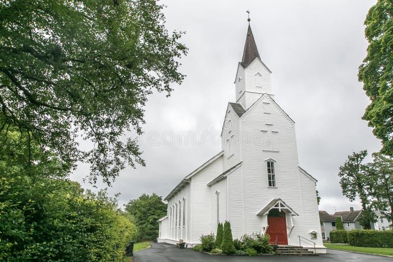 Norsk kirke royaltyfri foto