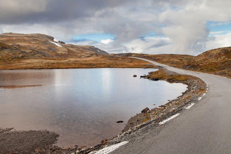 Norsk scenisk rutt Aurlandsfjellet royaltyfria foton