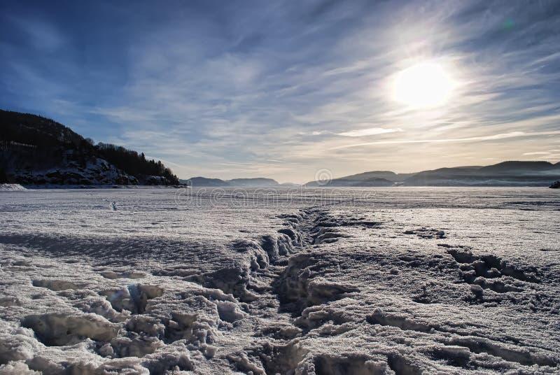 norsk vinter arkivfoto