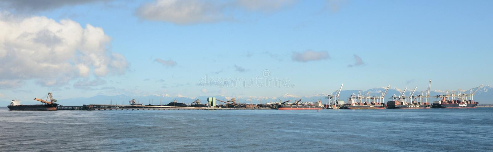 Nort Vancouver sea port royalty free stock image