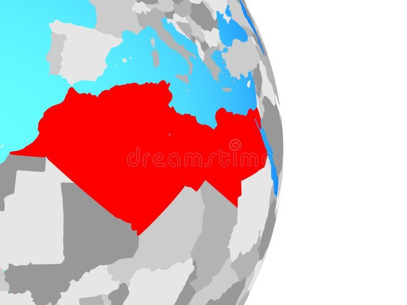 Norte de África no globo ilustração royalty free