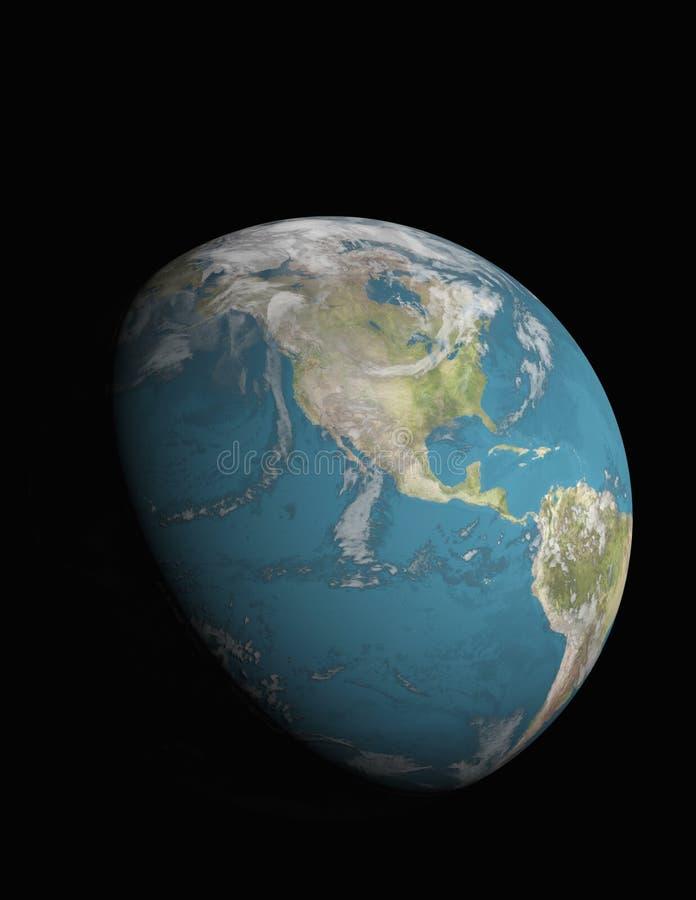 Norteamérica con 3/4 tierra iluminada ilustración del vector