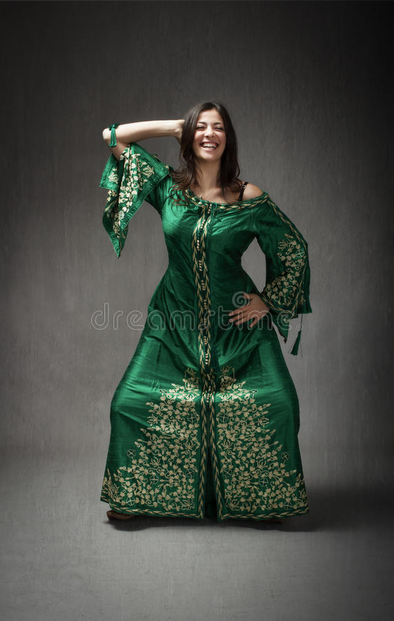 North african dress for a girl dancing stock images
