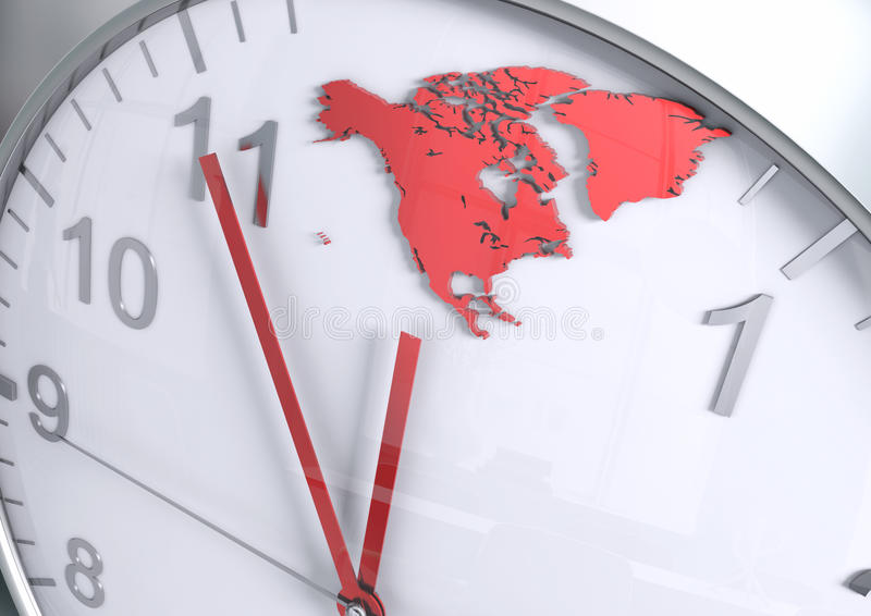 North America continent countdown stock photos