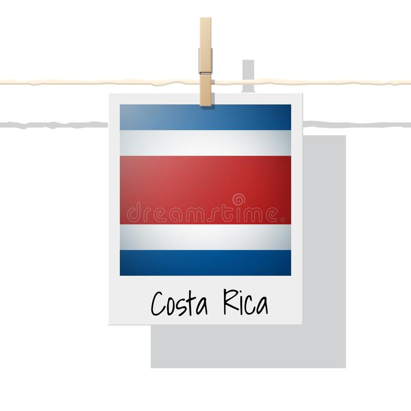 North America continent flag collection with photo of Costa Rica flag. Vector , illustration royalty free illustration