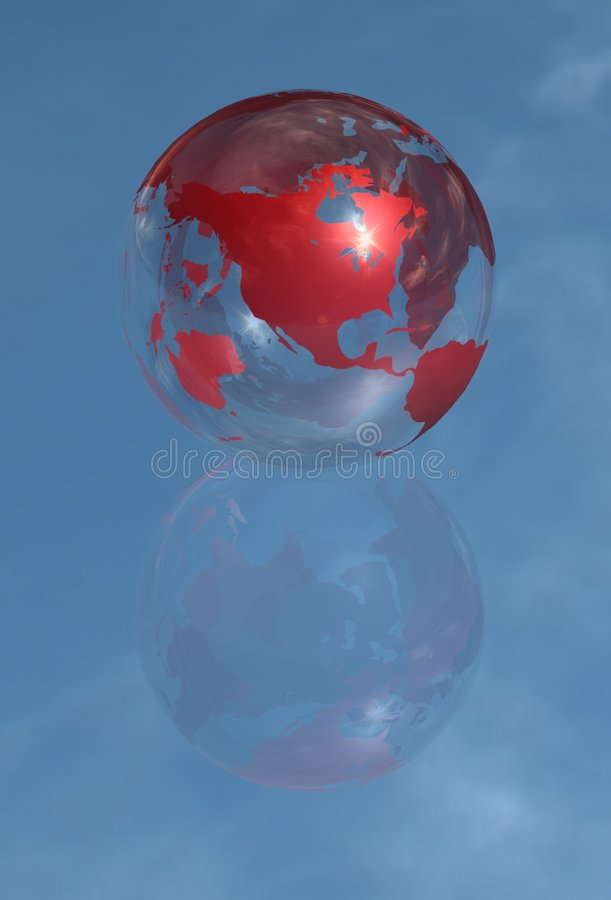 Download North America Crystal Globe Royalty Free Stock Image - Image: 8179576