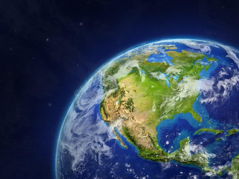 North America on Earth vector illustration
