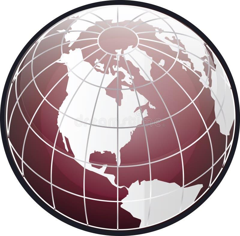 North america globe stock photo