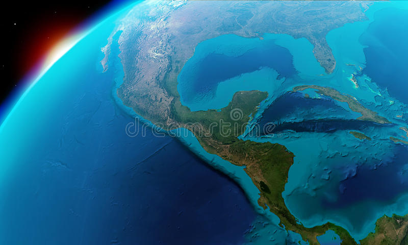 North America including Mexico,Costa Rica, Cuba,Bahamas, some parts of usa and so on vector illustration