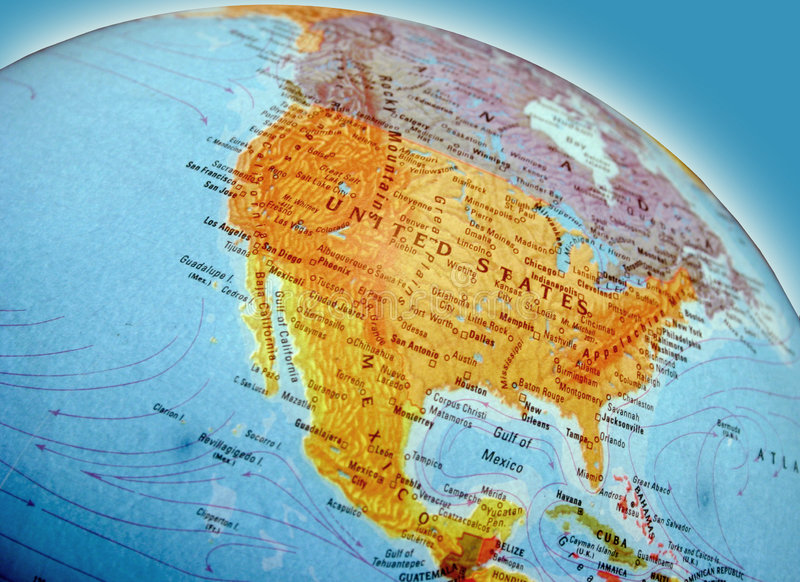 Download North America Map stock image. Image of continents, atlas - 58433