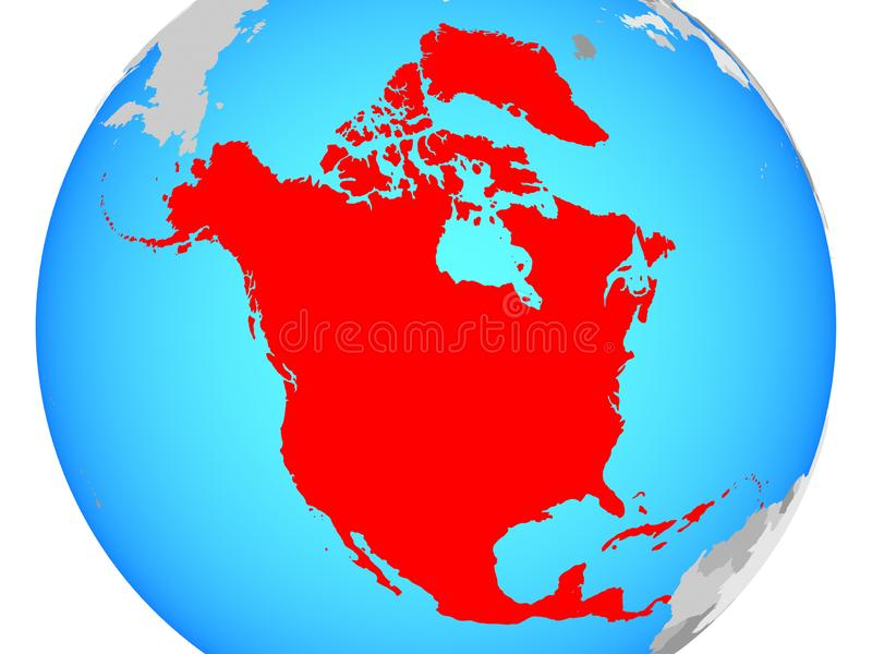 North America on map vector illustration