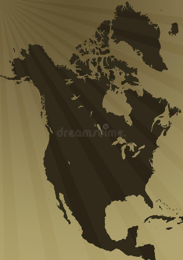 Free North America Map Illustration Royalty Free Stock Photo - 5169355