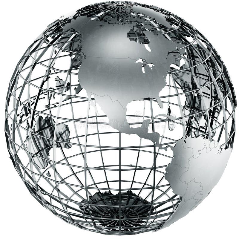 Download North America in metal stock illustration. Illustration of metal - 20066161