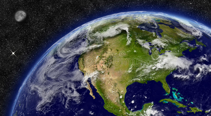 North America on planet Earth vector illustration