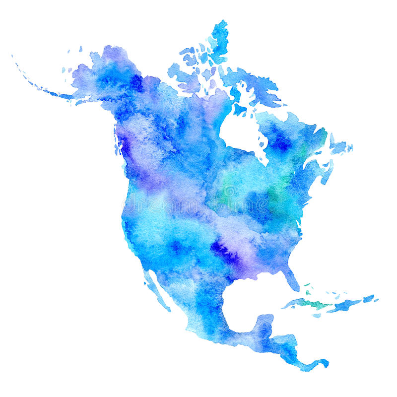 North America. World map. stock illustration