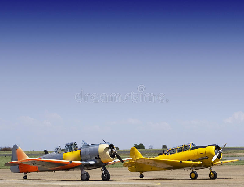 North American AT-6 Harvards Stock Photography